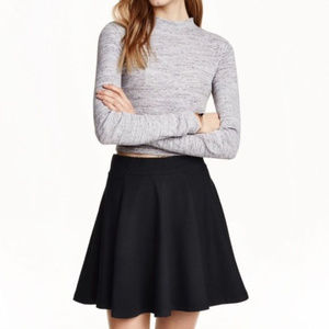 Joe B. Black diamond textured circle skirt